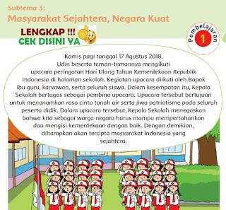 Subtema 3 Masyarakat Sejahtera, Negara Kuat www.simplenews.me