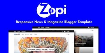[Premium Template] ZopiMag Blogger Template