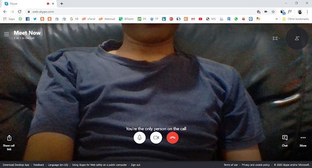 Langkah-langkah teleconference menggunakan skype web