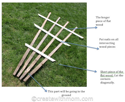 Create With Mom Making A Trellis Diy Project