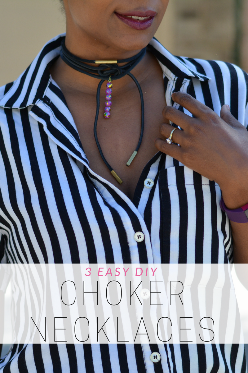diy choker tutorial