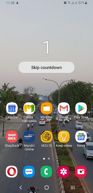 Cara rekam layar di Samsung S9 Plus