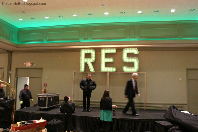 diy giant marquee letters for ballroom space