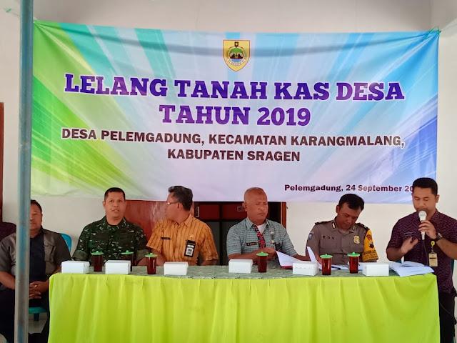 Bati Wanmil Karangmalang Hadiri Lelang Tanah Kas Desa Pelemgadung