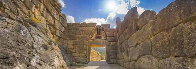 Entrance to ancient settlement of Mycenae