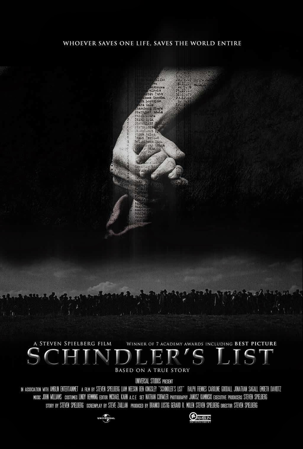a review of the movie schindlers list by steven spielberg Our video countdown of the top 10 steven spielberg movies of all time continues with a discussion of the #6 movie on our list, schindler's list.