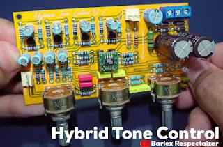 Controle de Tom Híbrido Estéreo – Circuito Eletrônico