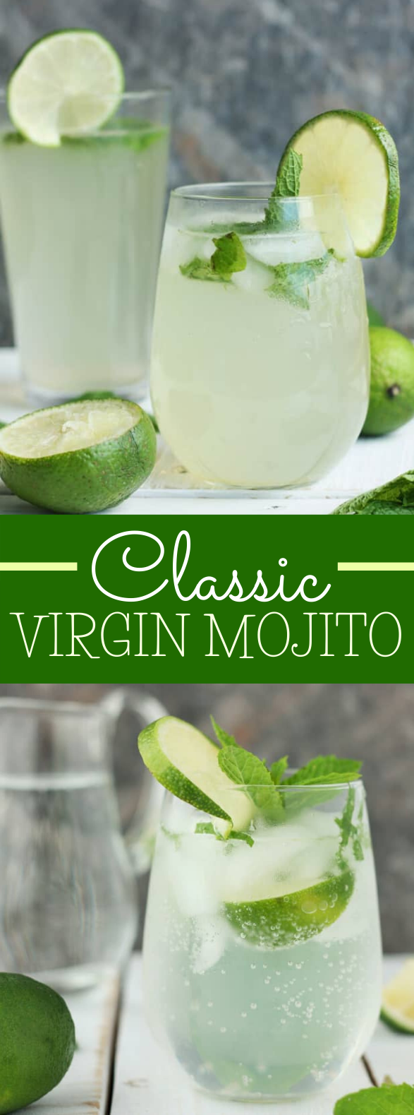 VIRGIN MOJITO RECIPE {MOJITO MOCKTAIL} #drinks #nonalcoholic