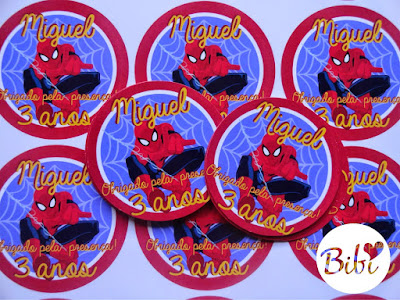 varios adesivos personalizados do homem aranha