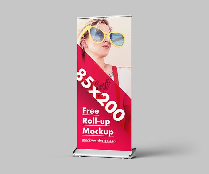 Free roll-up mockup / 85x200 cm