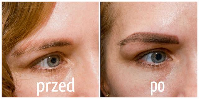 Makijaż permanentny brwi efekty