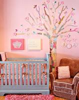 Cuartos rosa para bebé