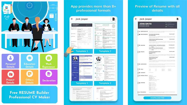 Daftar kumpulan aplikasi untuk membuat CV (Curriculum Vitae) di hp Android bahasa Indonesia terbaru dan terbaik secara offline yang cocok untuk fresh graduate dalam melamar kerja tentunya dengan desain elegan, keren, dan menarik.