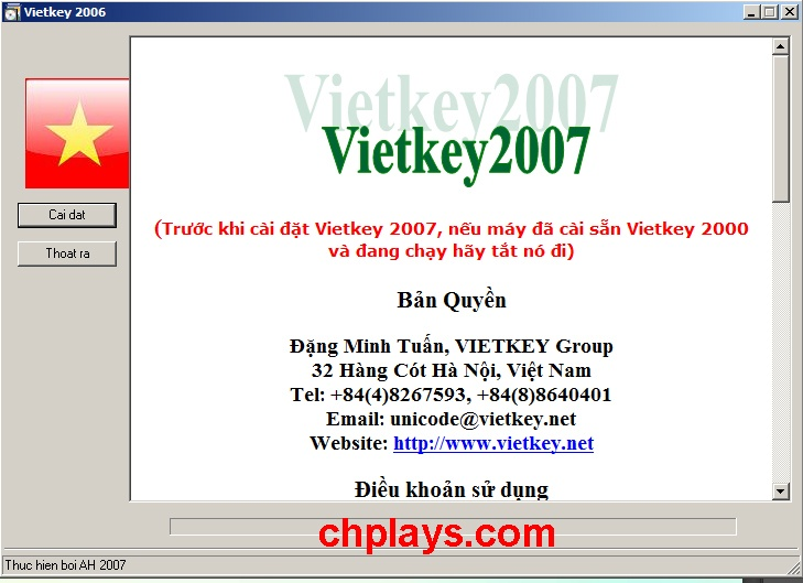 Hướng dẫn cài đặt Vietkey 2007 trên máy tính, laptop Win 7