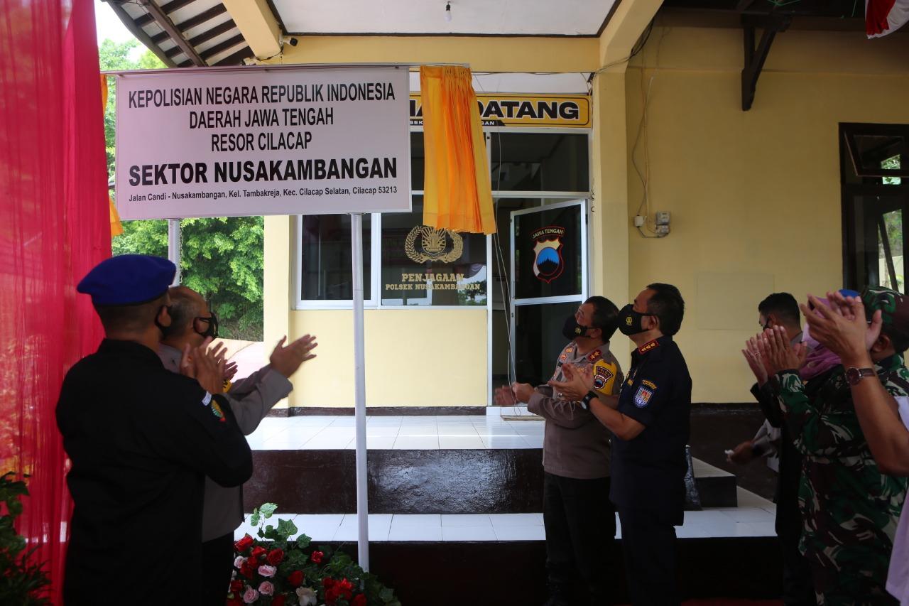 Kapolda Jateng Resmikan Polsek Nusakambangan Cilacap Selatan
