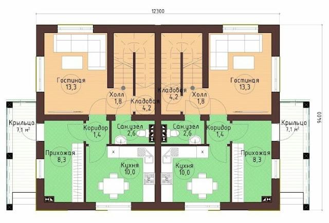 duplex house interior and exterior photos and plan