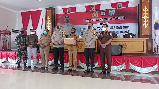 Bangun Sinergitas Kapolda Maluku Gelar Tatap Muka Bersama Forkopinda, Tomas, Toga, OKP di Kab SBB