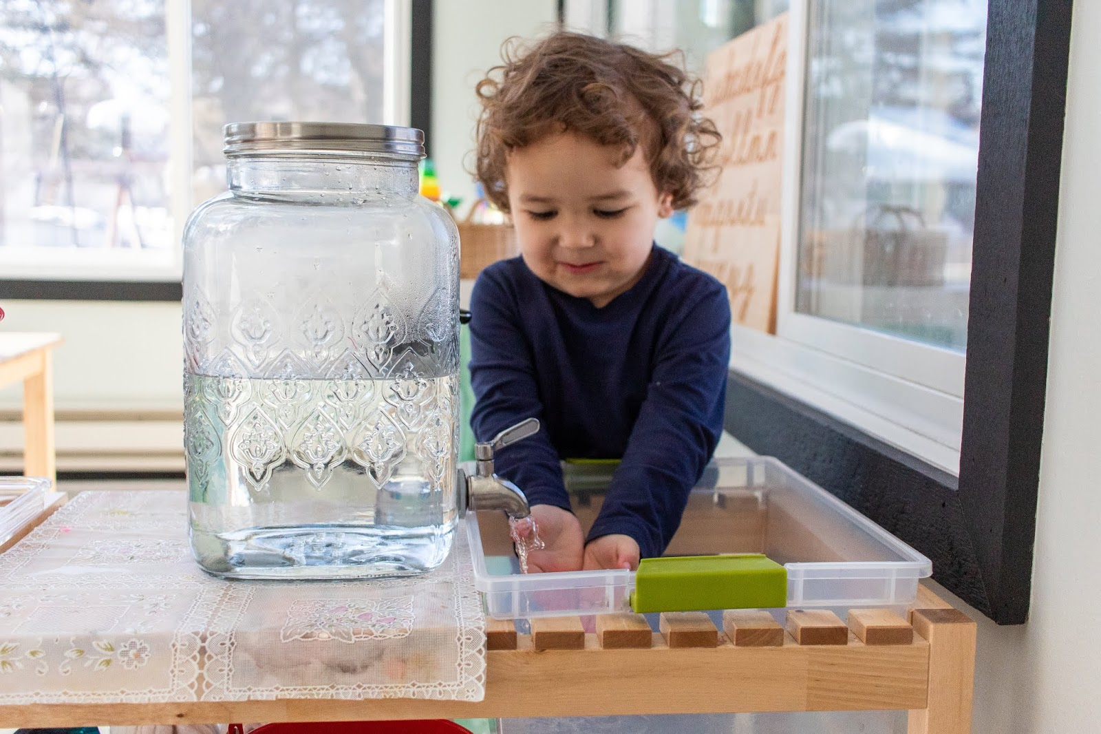 3 Montessori ways to consider adding independent hand washing to your home for your toddler.