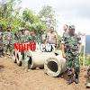 TNI-Polri Bergotong Royong di  Lokasi TMMD Ke-105, Membangun Desa di Kab Sinjai