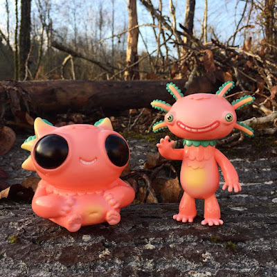 """Salmon Sunset"" Wooper Looper & Fatty Wooper Vinyl Figures by Gary Ham"