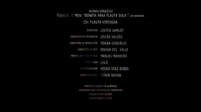 Niurka González - ¨Tonada, II Movimiento, Sonata para flauta sola¨. Dirección: Lester Hamlet. Portal Del Vídeo Clip Cubano - 10