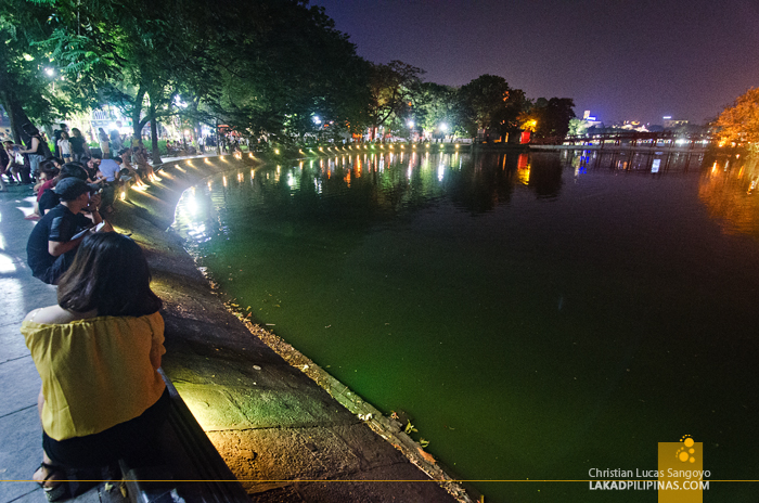 Hanoi Walking Street Hoan Kiem Lake Evening