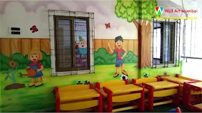Kindergarten & Pre School Wall Art Services Mumbai | Wall Painting Mumbai