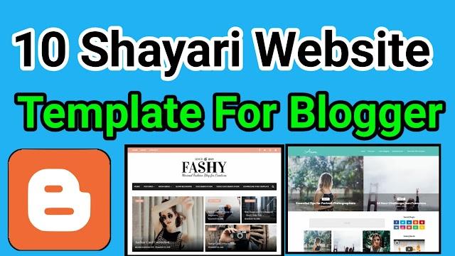 Shayari Template Blogger- 10 Best Shayari Website Template