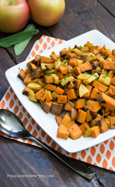 N.C is the largest producer of sweet potatoes. Enjoy eight farm-fresh and healthy recipes using the root vegetable as a starring ingredient. Quick Apple and Skillet Hash from A Pancake Warrior  Blog.