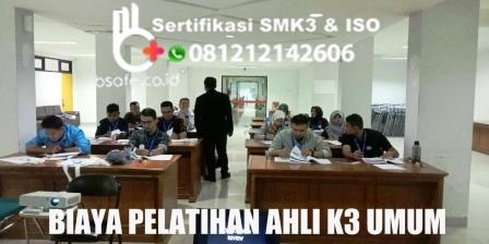 biaya training ahli k3 umum, biaya pelatihan ahli k3 umum