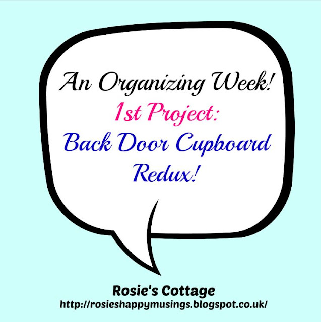 An Organizing Week: Project One: Back Door Cupboard Re-Visited