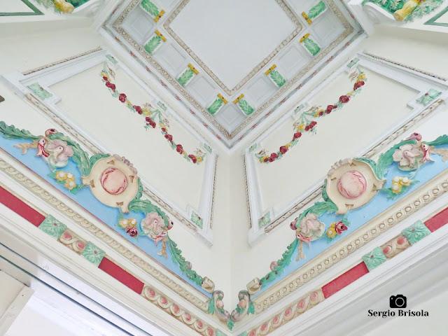 Palacete Basílio Jafet (adornos de paredes e teto - piso superior)