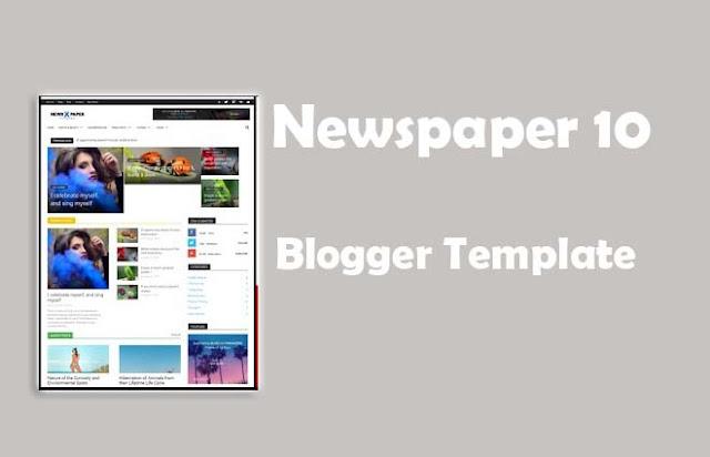 Newspaper 10 Blogger Template
