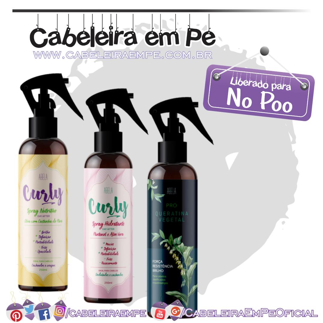 Sprays Hidratante, Nutritivo e Queratina Abela Cosmetics (No Poo)
