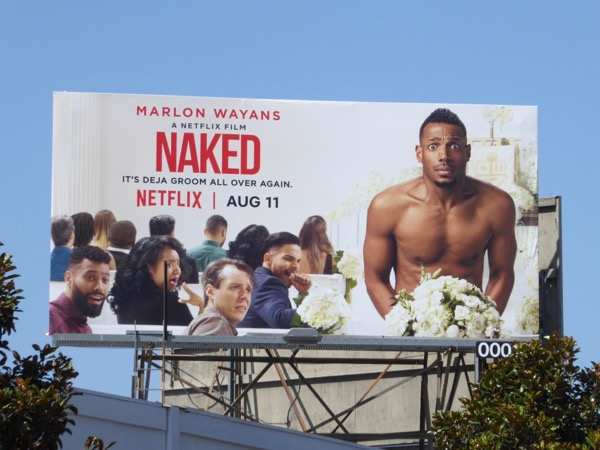 Naked Netflix film billboard