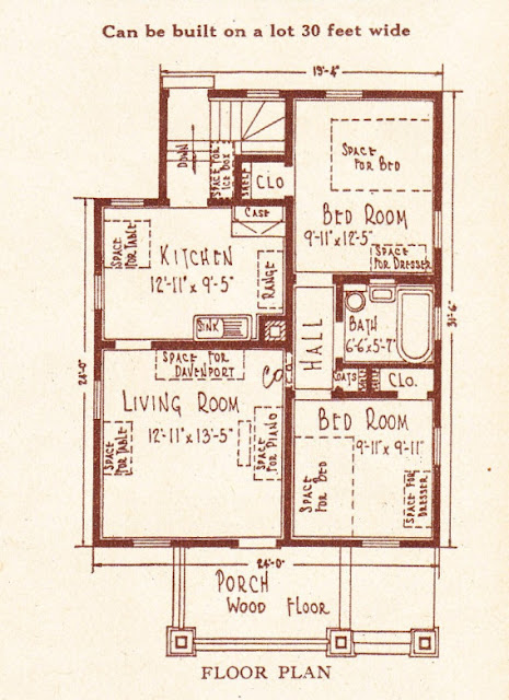 Floor plan of the Sears Dundee @ Sears Homes of Chicagoland