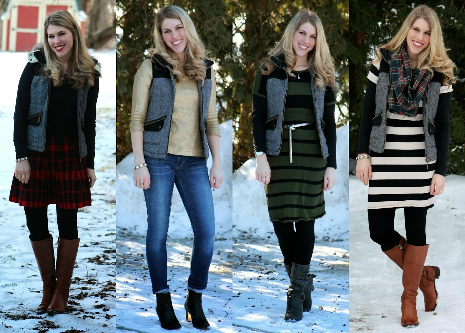 how to wear a puffer vest womens