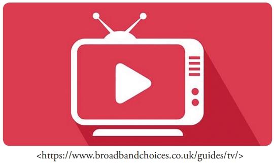 FDSBC 2020: A imagem, acima, oferece a ideia de uma nova forma de assistir televisão, cada vez mais comum entre a população mundial, inclusive em países menos desenvolvidos. Assinale a alternativa que apresenta essa nova forma de assistir TV.