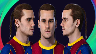 PES 2021 Faces Antoine Griezmann (Double Braids) by SR