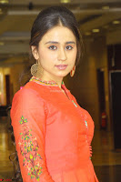 Simrat in Orange Anarkali Dress 01.JPG
