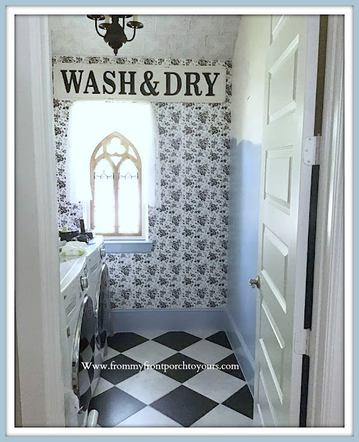 Laundry Room Makeover-French Farmhouse Cottage Style-From My Front Porch To Yours