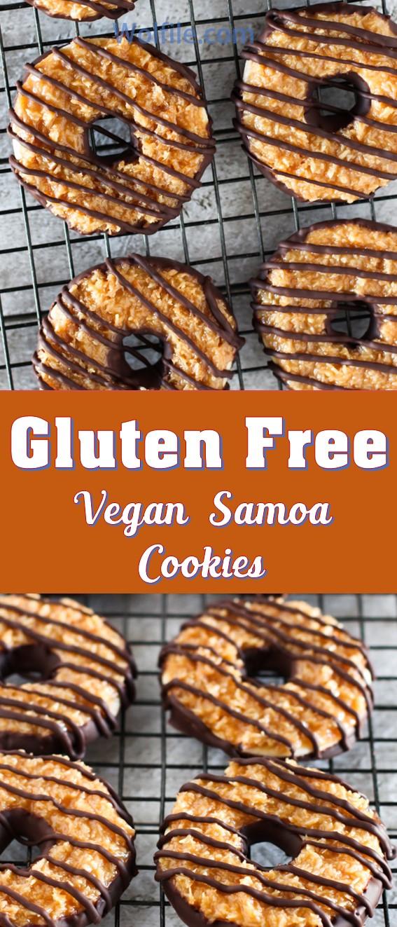 Gluten Free Vegan Samoa Cookies #Vegan #glutenfree