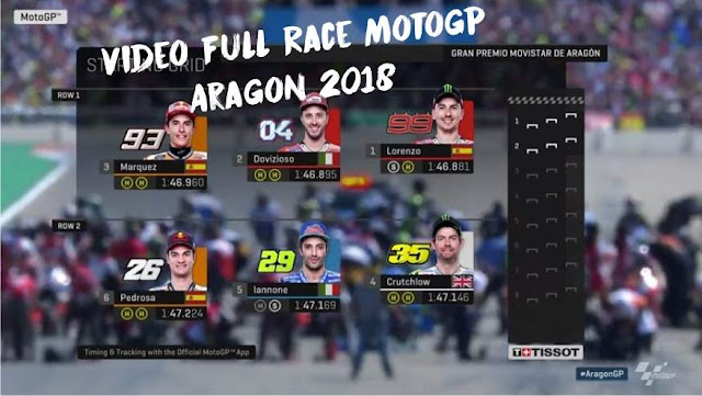 Video Full Race MotoGP Aragon 2018