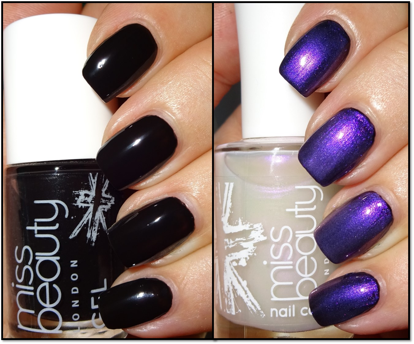 Wendy\'s Delights: Miss Beauty Gel Effect Nail Polish - Raven & Pearl ...