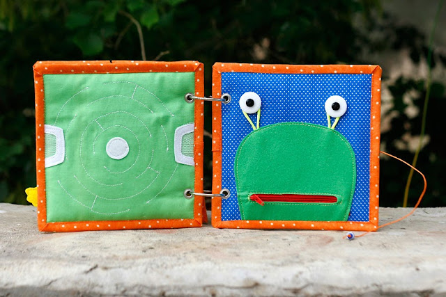 Boys quiet book TomToy handmade activity book, educational toy