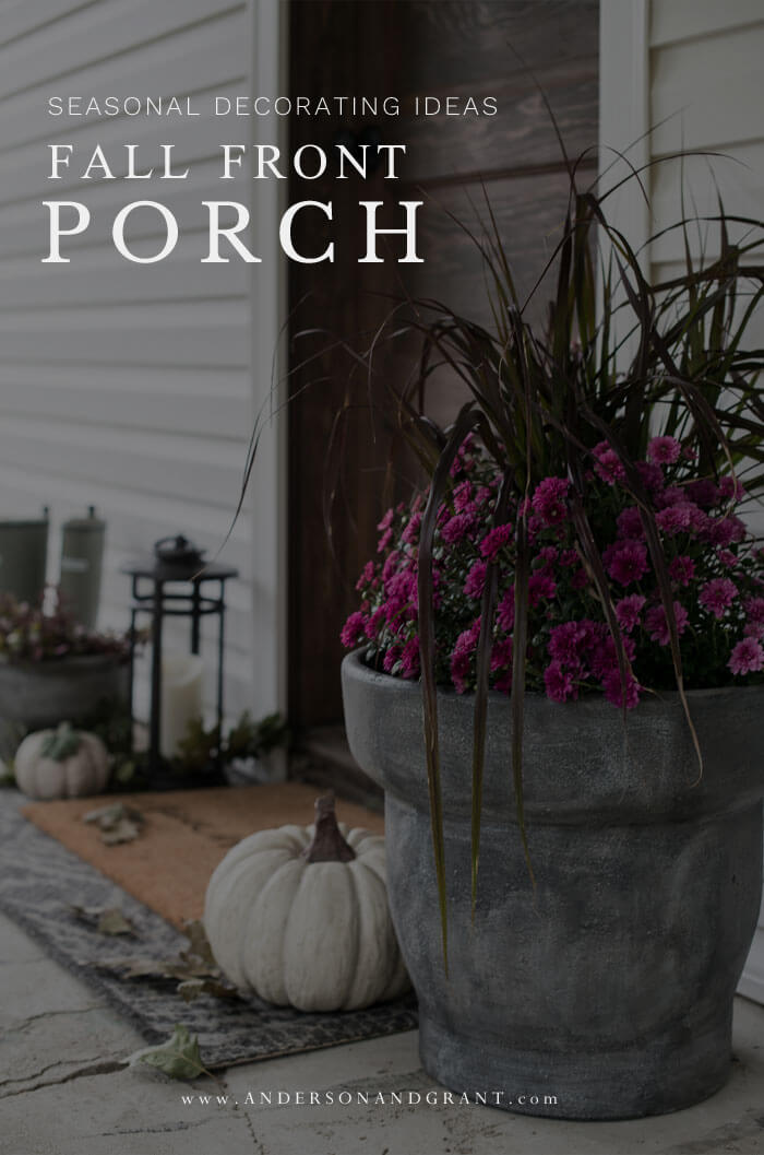 Everything you need to know about decorating your front porch simply this fall.