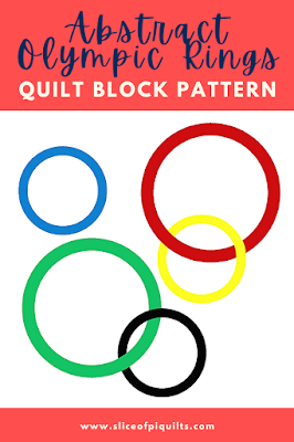 Abstract Olympic Rings Quilt Block pattern