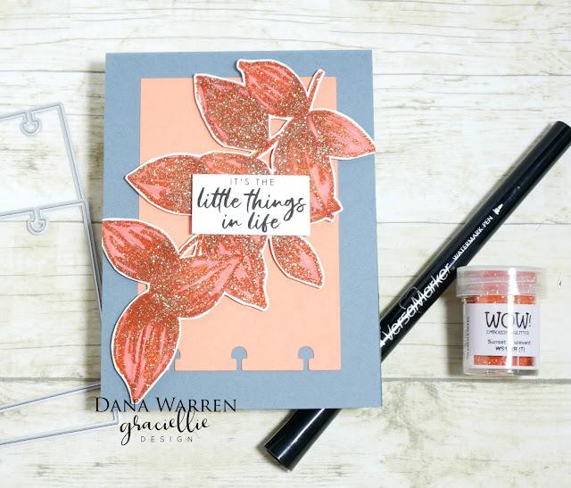 Dana Warren - Kraft Paper Stamps - Graciellie Designs Wow Embossing Powder