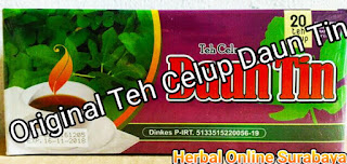 Jual Teh Daun Tin Celup Herbal Kemasan 20 Tea Bag di Surabaya