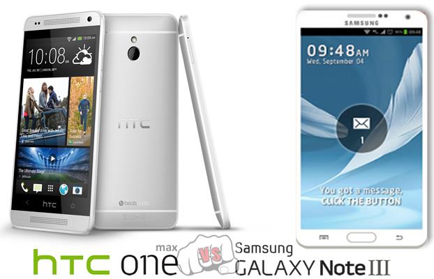 Samsung Galaxy Note 3 vs htc ONE max Specs Comparison